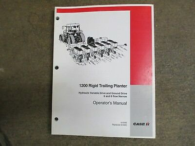 Case IH 1200 planter with hyd. drive owners & maintenance manual 6R 8R pull