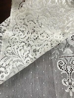 """Carmen - Laura Ashley Victorian style Cream cotton lace curtain panel 58"""" by 50"""""""