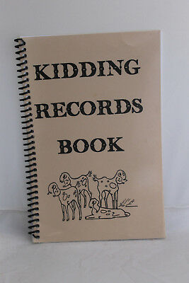 Kidding Records Book Goat Herd Spiral Jacob's Pride Vintage Unused