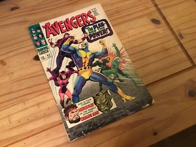 Avengers #42 Marvel 1966 with Black widow and Hercules.Grade G/VG