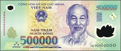1 MILLION Vietnamese Dong Currency (VND) - (2) 500,000 Notes - Fast Delivery