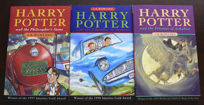 Harry Potter and the Philosopher's Stone UK 1st Ed. and more - Set of 3 - #304