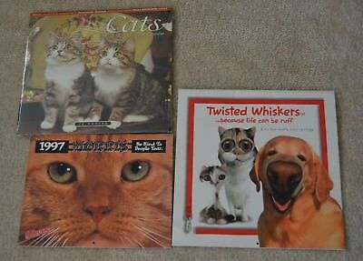 Used Morris the Cat 1997 Calendar, Unused 2000 Cats, Twisted Whiskers Calendar