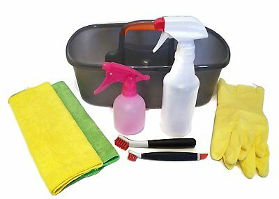 DIY Cleaning Supplies Carry & Store Organizer Kit Bundle Includes 1 Caddy, 2 1 2