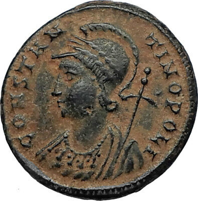 CONSTANTINE I the GREAT Founds Constantinople Original Ancient Roman Coin i67485