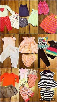 LOT Baby Girls Size 3-6 Month 27 Pc  Spring Summer  Outfits Clothes