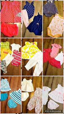 LOT Baby Girls Size NB 0-3 Month 29 Pc  Spring Summer  Outfits Clothes