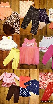 LOT Baby Girls Size 6-9 Month 29 Pc  Spring Summer Outfits Clothes