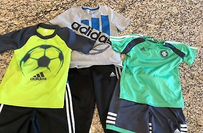 Adidas Boys Athletic Clothes Lot 6 Items All Size 5 Soccer/Basketball