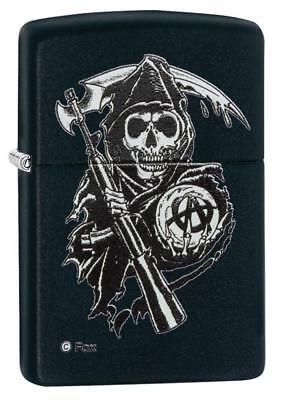 Zippo Sons of Anarchy SAMCRO Grim Reaper Black Matte 28504