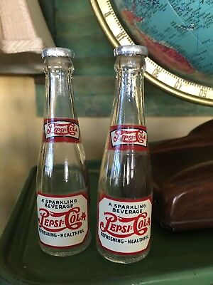 Pepsi~Cola Double Dot Vintage 1940's Salt And Pepper Shakers