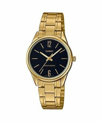 NEWEST Casio LTP-V005G-1B Women's GOLD-tone Stainless Steel Watch Analog Dial