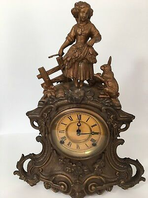 Nicholas Muller Antique Mantle Clock 1865-1876