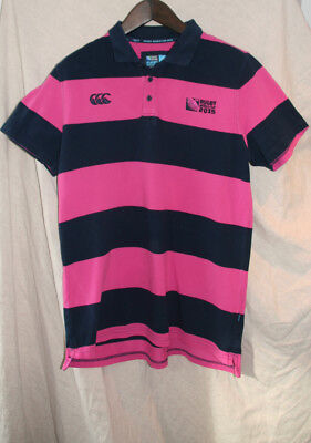 Canterbury Rugby World Cup England 2015  Polo Rugby Shirt XL VGC New Zealand