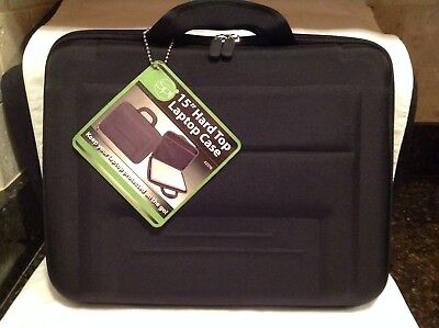 "Case New 15"" Hard Top/Bottom  Briefcase for Laptops or Tablets"