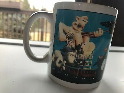 Wallace and Gromit Andrews and McMee Mug Coffee Cup Claymation Vintage Mug 1989
