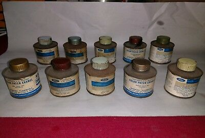 1966 Ford AE60 Color Patch Paint cans Vintage FOMOCO  3oz lot of 10