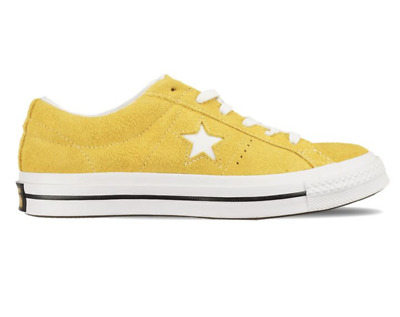 NEW CONVERSE ONE STAR OX 161241C Suede Mineral Yellow Mens Womens c1 ... 69e6e1f93