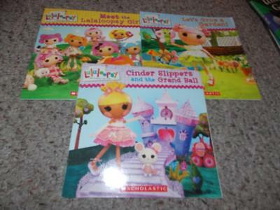 Lot 4 Paperback Lalaloopsy Books Very Good Used