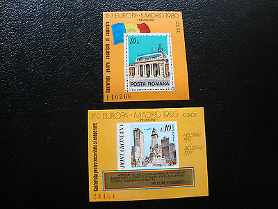 romania - stamp yvert and tellier bloc n° 146 146a n (Z9) stamp romania