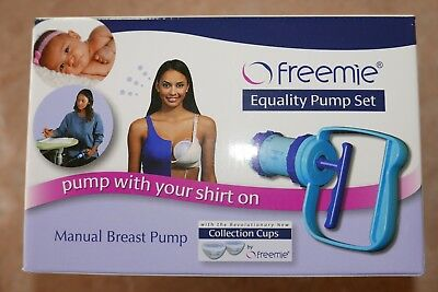 Freemie Equality Manual Hand Breast Pump Collection Cups Breastfeeding preemie