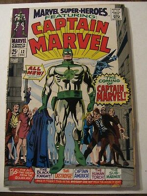 MARVEL SUPER HEROES CAPTAIN MARVEL #12 Silver Age Comic Book 1967