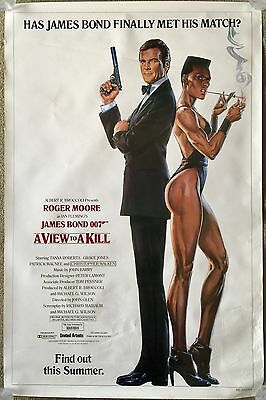 "JAMES BOND 007 A VIEW TO A KILL 1985 Movie Theatre Poster Measures 27"" x 41"""