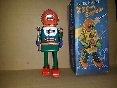 Blechroboter Made in Japan .      ROBOT      INTER PLANET SPACE CAPTAIN