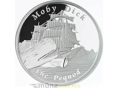 1$ Dollar Pequod Moby Dick Famous NAVIRES Never Sailed TUVALU argent 1 once 2013