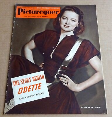 PICTUREGOER MAGAZINE 30th SEPTEMBER 1950 OLIVIA DE HAVILLAND COVER TREVOR HOWARD