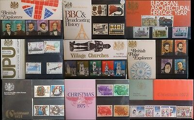 GB Stamps 1965 - 1981 Commemorative Presentation Packs