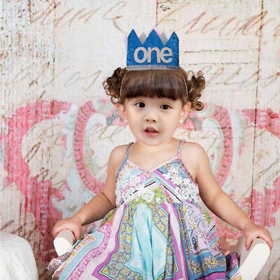 Glitter Baby Kids Sequined One 1st Birthday Hat Headband Party Prop