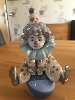 "Lladro Figur ""springender Clown mit Ball"" 5813"