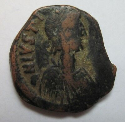 Byzantine Coin - Justinian I. AE follis. 527-565AD - Constantinople Mint - SB158