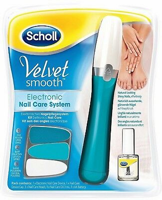 Scholl Velvet Smooth Electric Nail Care System With FREE 3ml Nail Oil