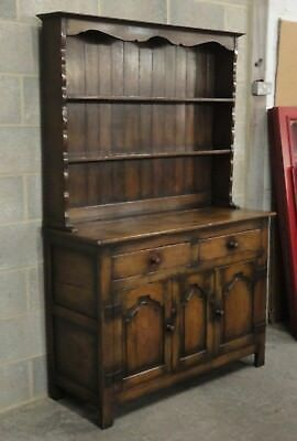 Antique Style Titchmarsh & Goodwin Solid Oak Country Farmhouse Dresser