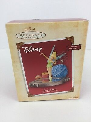 Walt Disney Tinker Bell Wind-Up Movement Hallmark Keepsake Christmas Ornament