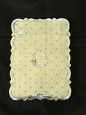 Antique Victorian Silver Card Case, Birmingham, Hilliard & Thomason, Circa 1868