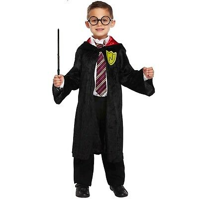 Harry Potter Childs Fancy Dress Wizard Outfit Tie Glasses Wand Book Week