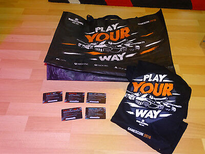 Gamescom 2016 Goodiebag /WOT/ World of Tanks / Warships *T-Shirt L* 5 Codes!