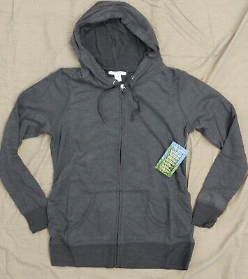 Motherhood Insect Shield Womens Maternity Charcoal Gray Hoodie Jacket SZ M ~ New