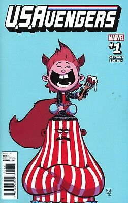 U.S.Avengers #1 Skottie Young Baby Variant Cover NM Marvel