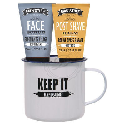 Man'Stuff The Man Mug - Giant Cup Shaving Face Wash Boys Gift Set Present Balm