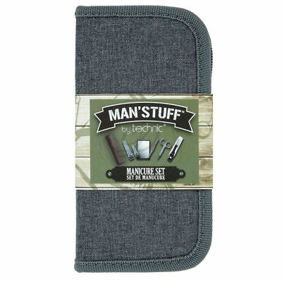 Man'Stuff Manicure Set - Dad Present Gift Grandad Trimming Comb Boys Case Carry