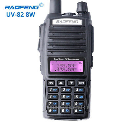 BaoFeng UV-82 8W Walkie Talkies Dual Band VHF/UHF FM Two-Way Radios Transceiver