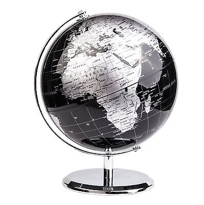 Luxury Metal World Globe Stand Modern Rotating Atlas Office Home Desk Ornament