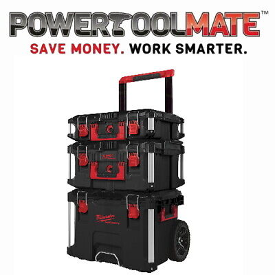 Milwaukee 4932464244 Packout 3 Piece Toolbox and trolley System complete set