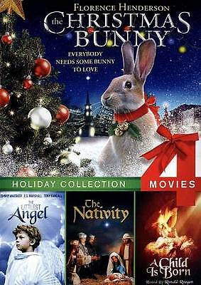 Christmas Bunny, Littlest Angel, The Nativity, A Child Is Born (DVD, 2012) NEW!