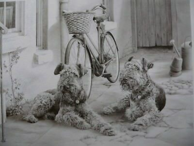 Mike Sibley Airedale Print Visiting Aunt Maude limited edition