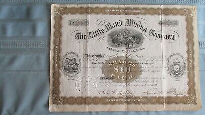 1882 Little Maud Mining Company Gilpin County Colorado Stock-Issued-Signed